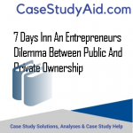7 DAYS INN AN ENTREPRENEURS DILEMMA BETWEEN PUBLIC AND PRIVATE OWNERSHIP
