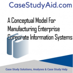 A CONCEPTUAL MODEL FOR MANUFACTURING ENTERPRISE CORPORATE INFORMATION SYSTEMS
