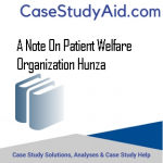 A NOTE ON PATIENT WELFARE ORGANIZATION HUNZA