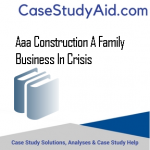 AAA CONSTRUCTION A FAMILY BUSINESS IN CRISIS