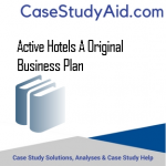 ACTIVE HOTELS A ORIGINAL BUSINESS PLAN