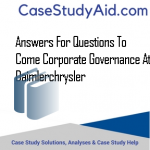 ANSWERS FOR QUESTIONS TO COME CORPORATE GOVERNANCE AT DAIMLERCHRYSLER
