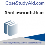 AT FORD TURNAROUND IS JOB ONE