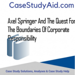 AXEL SPRINGER AND THE QUEST FOR THE BOUNDARIES OF CORPORATE RESPONSIBILITY