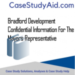 BRADFORD DEVELOPMENT  CONFIDENTIAL INFORMATION FOR THE MAYORS REPRESENTATIVE