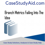 BRANCH METRICS FAILING INTO THE IDEA