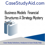 BUSINESS MODELS  FINANCIAL STRUCTURES A STRATEGY MYSTERY GAME