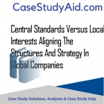 CENTRAL STANDARDS VERSUS LOCAL INTERESTS ALIGNING THE STRUCTURES AND STRATEGY IN GLOBAL COMPANIES