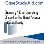 CHOOSING A CHIEF OPERATING OFFICER FOR THE GREAT ARTESIAN BASIN AUTHORITY