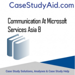 COMMUNICATION AT MICROSOFT SERVICES ASIA B