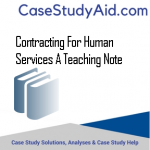 CONTRACTING FOR HUMAN SERVICES A TEACHING NOTE