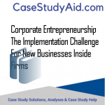 CORPORATE ENTREPRENEURSHIP THE IMPLEMENTATION CHALLENGE FOR NEW BUSINESSES INSIDE FIRMS