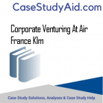 CORPORATE VENTURING AT AIR FRANCE KLM