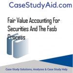 FAIR VALUE ACCOUNTING FOR SECURITIES AND THE FASB PROCESS