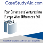 FOUR DIMENSIONS VENTURES INTO EUROPE WHEN DIFFERENCES STILL MATTER A