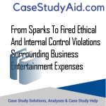FROM SPARKS TO FIRED ETHICAL AND INTERNAL CONTROL VIOLATIONS SURROUNDING BUSINESS ENTERTAINMENT EXPENSES