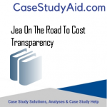 JEA ON THE ROAD TO COST TRANSPARENCY