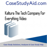 KALTURA THE TECH COMPANY FOR EVERYTHING VIDEO