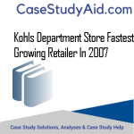 KOHLS DEPARTMENT STORE FASTEST GROWING RETAILER IN 2007