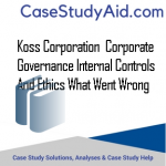 KOSS CORPORATION  CORPORATE GOVERNANCE INTERNAL CONTROLS AND ETHICS WHAT WENT WRONG