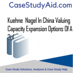 KUEHNE  NAGEL IN CHINA VALUING CAPACITY EXPANSION OPTIONS OF A 3PL