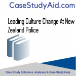 LEADING CULTURE CHANGE AT NEW ZEALAND POLICE