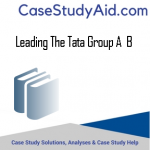 LEADING THE TATA GROUP A  B