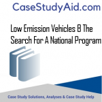 LOW EMISSION VEHICLES B THE SEARCH FOR A NATIONAL PROGRAM