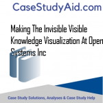 MAKING THE INVISIBLE VISIBLE KNOWLEDGE VISUALIZATION AT OPEN SYSTEMS INC