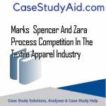 MARKS  SPENCER AND ZARA PROCESS COMPETITION IN THE TEXTILE APPAREL INDUSTRY