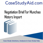 NEGOTIATION BRIEF FOR MUNCHAO MOTORS IMPORT