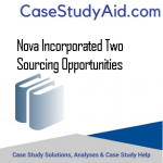 NOVA INCORPORATED TWO SOURCING OPPORTUNITIES