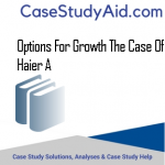 OPTIONS FOR GROWTH THE CASE OF HAIER A