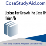 OPTIONS FOR GROWTH THE CASE OF HAIER AB