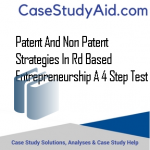 PATENT AND NON PATENT STRATEGIES IN RD BASED ENTREPRENEURSHIP A 4 STEP TEST