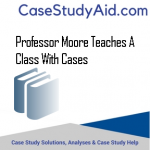 PROFESSOR MOORE TEACHES A CLASS WITH CASES