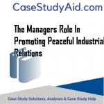 THE MANAGERS ROLE IN PROMOTING PEACEFUL INDUSTRIAL RELATIONS