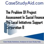 THE PROBLEM OF PROJECT ASSESSMENT IN SOCIAL FINANCE THE LOCAL INITIATIVES SUPPORT CORPORATION B