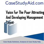 VOICE FOR THE POOR ATTRACTING AND DEVELOPING MANAGEMENT TALENT