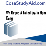 WH GROUP A FAILED IPO IN HONG KONG